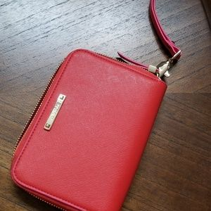 Stella and Dot red wristlet/wallet